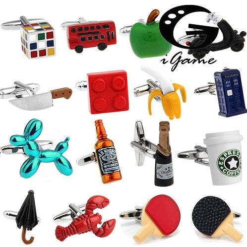 Factory Retail Novelty Cufflinks 29 Designs Option
