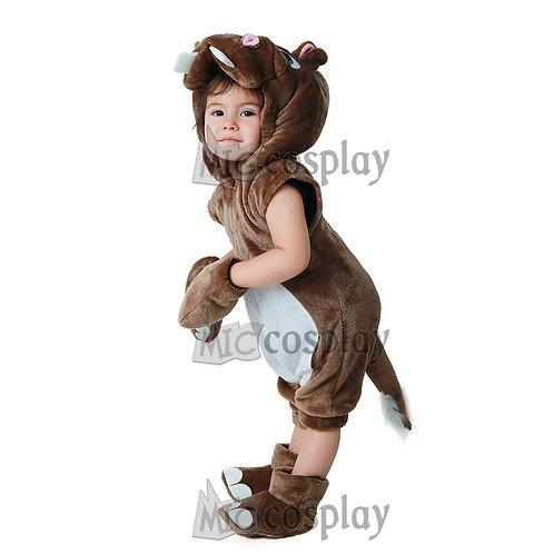 Toddler Plush Hippo Costume