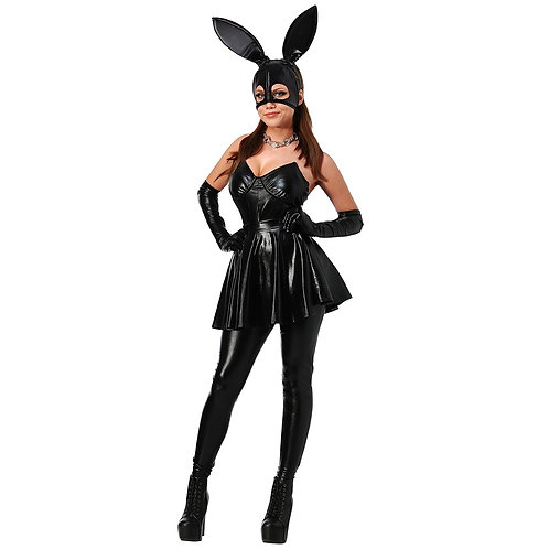 Sexy Faux Leather Bunny Costume