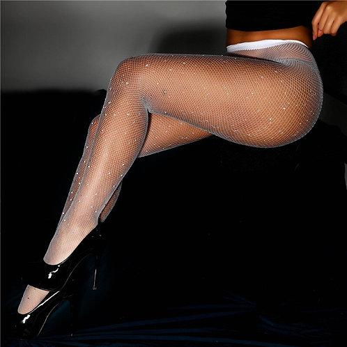 Diamond Shimmer Mesh Stockings