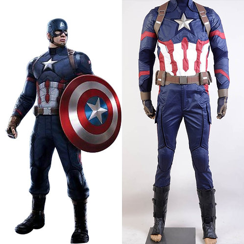 """Captain America: Civil War"" Professional Quality Steve Rogers Cosplay Costume"