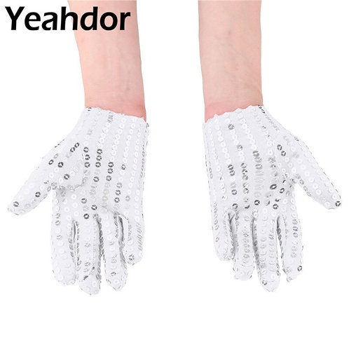 1 Pair Kids Youth Sequins  Gloves