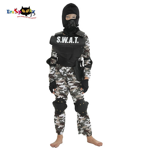 Youth SWAT Team Cosplay Costume