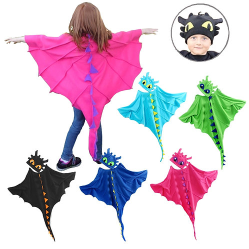Youth Dragon Costume Cloak & Hat Set