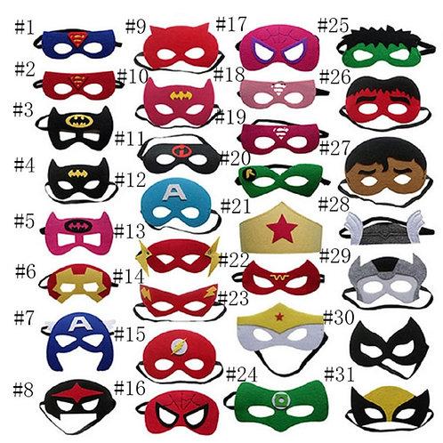 Youth Superhero Cosplay Half Mask