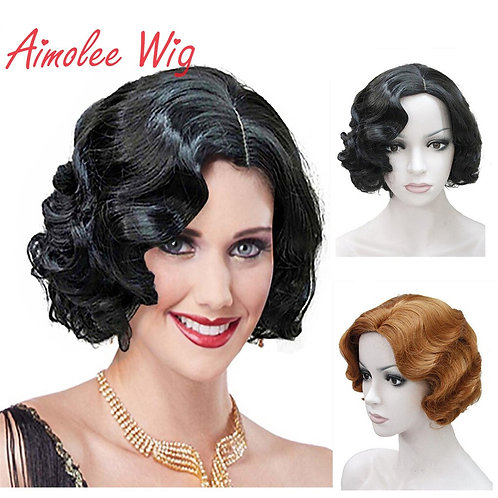 Aimolee 1920's Finger Wave Synthetic Wig
