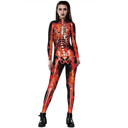 Full Length Long Sleeve Skeleton Bodysuit