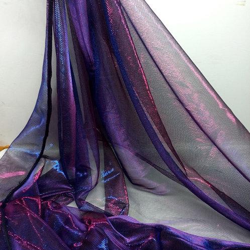 Evening Dress Fabric Metallic Flashing Mesh Fabric