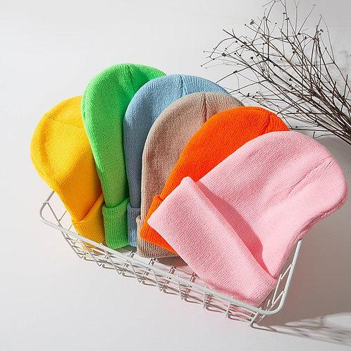 Adult Basic Knit Beanie Cap