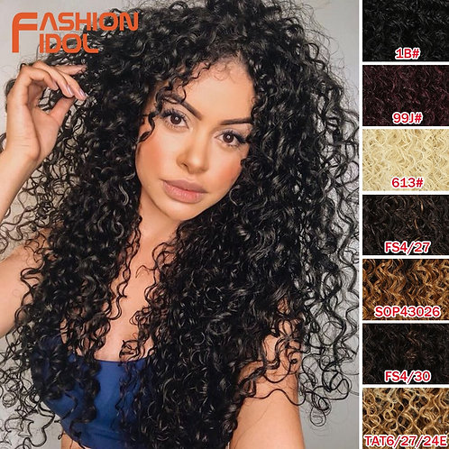 "26"" Tight Curls Glueless Lace Front Wig"