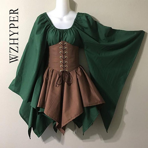 Elven Medieval LARP Cosplay Costume