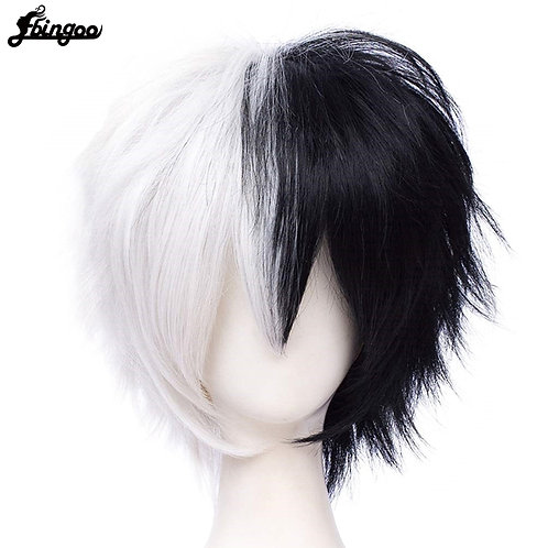 Monokuma White Black Wig