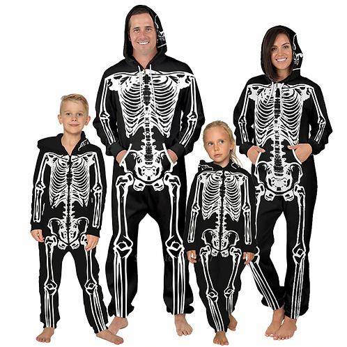 Family Skeleton Zip Up Hooded Onesies