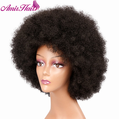 Mid Length Fluffy Afro Wig
