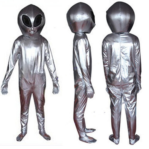 Retro Silver Alien Coplay Costume