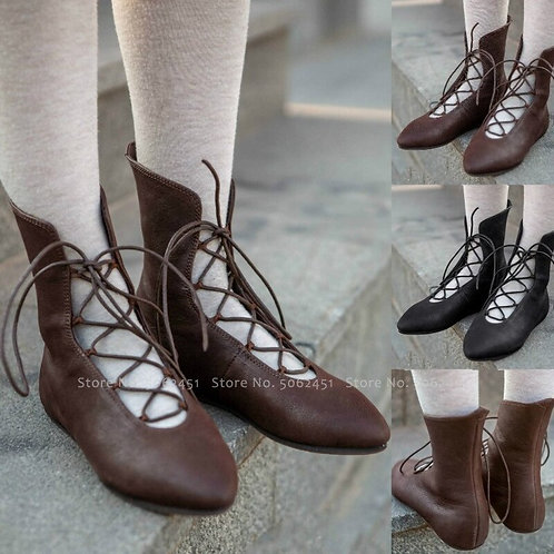 Fantasy Elf Lace Up  Boot