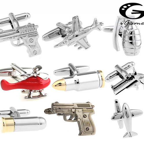 Free Shipping Men's Designer Cufflinks Gold-Color Bullet