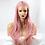 """Thumbnail: 24"""" Long Wavy Ash Pink Lace Front Wig"""