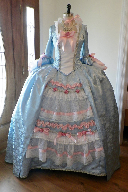 18th Century Blue Rococo Dress