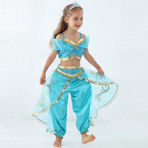 """Aladdin"" Jasmine Youth Cosplay Costume"