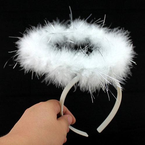 Soft Feather Angel Halo Headband