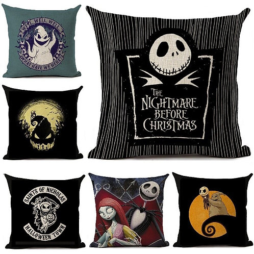 """Nightmare Before Christmas"" Cartoon Printed Cushion Covers"