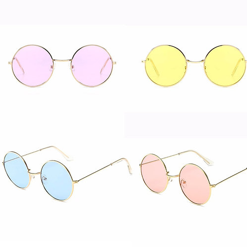 Novelty Retro Round Tinted Glasses