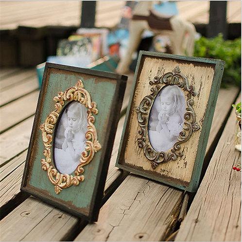 Vintage Photo Frame Home Decor Wooden Wedding Desktop