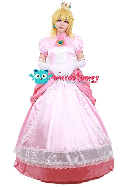 Princess Peach Deluxe Cosplay Costume