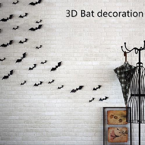 12pcs/Set 3D Bat Wall Sticker