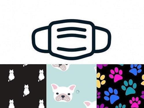 Dogs & Prints Face Masks 3/Pack