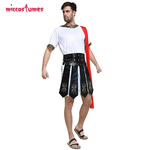 Roman Soldier Faux Leather Gladiator Skirt