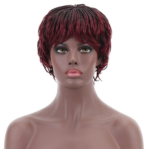 12'' Short Box Braids Wig