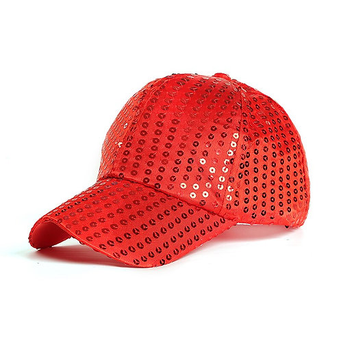 Basic Sequin Adjustable Baseball Cap