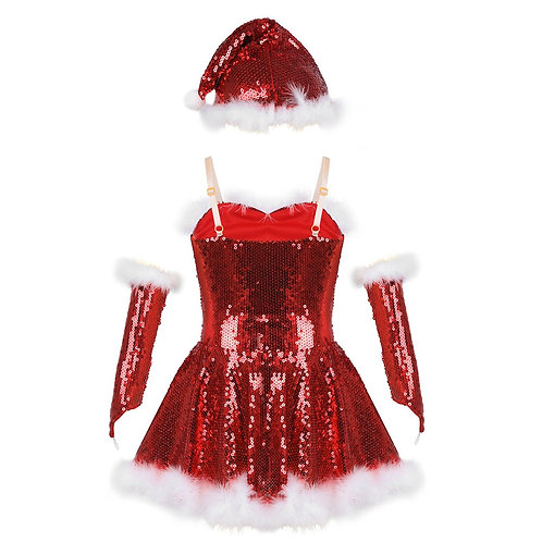 Youth Sequined Santa Dress