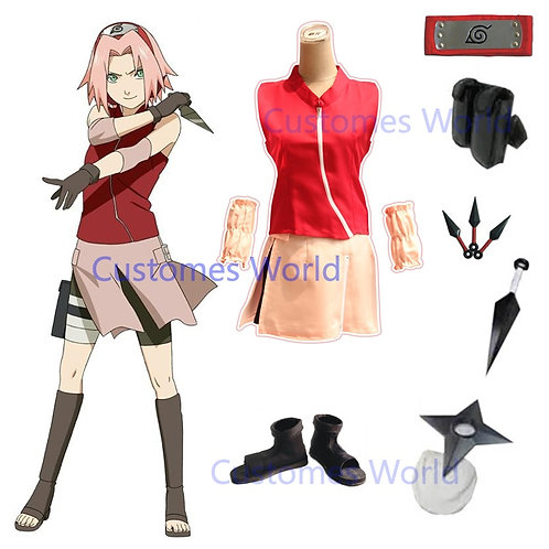 Sakura Cosplay Costume  Full Set