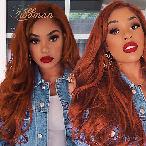 """24"""" Long Natural Wave Lace Front Wig"""