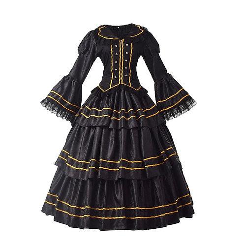 Black Bell Sleeve Rococo Lolita Dress