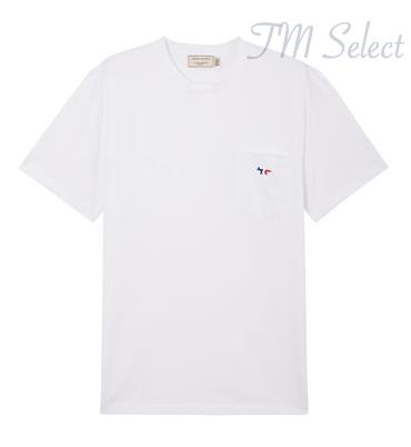 MAISON KITSUNE(メゾンキツネ) トリコロール パッチ ワンポイントロゴ Tシャツ