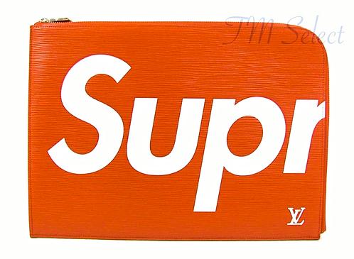 Louis Vuitton × Supreme Pochette Jour GM クラッチバッグ