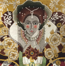 """Monarch"", hooked by Sibyl Osicka"