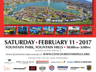 Poster for 2017 Concours in the Hills