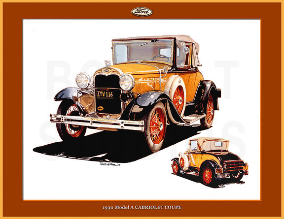 1930 FORD MODEL A CABRIOLET COUPE