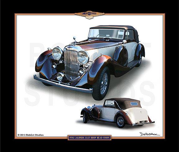 1936 LAGONDA LG45 DROP HEAD COUPE