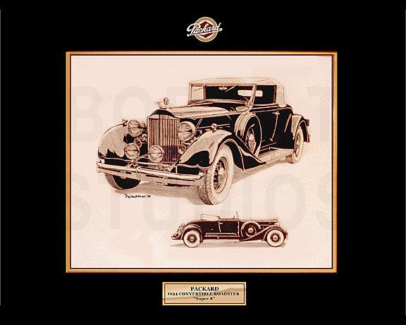 """1934 PACKARD """"SUPER 8"""" CONVERTIBLE ROADSTER"""