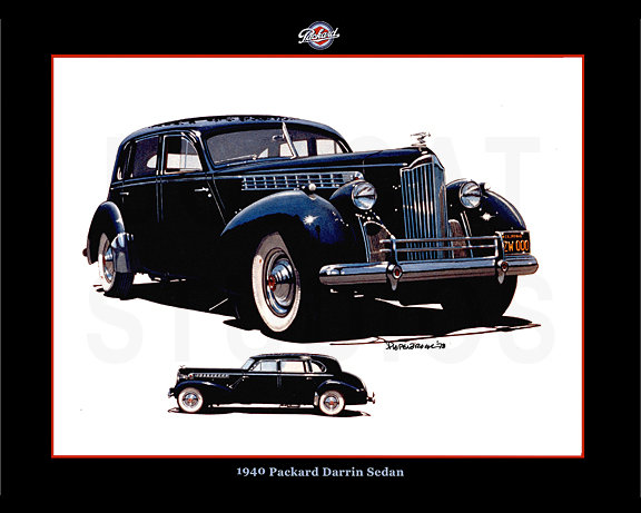 1940 PACKARD DARRIN SEDAN