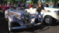 "Cars & Coffee Show with Mavis, 1936 Mercedes-Benz and ""Blondie"" 1936 Auburn Boattail Speedster"