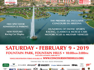 Promotional Design For 2019 Concours in the Hills