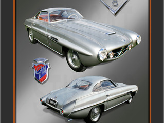 "Portrait of Rare Fiat 8V ""Supersonic"""