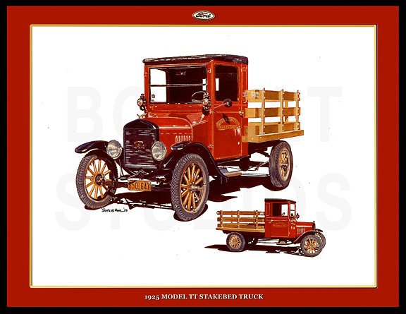 1925 FORD MODEL TT STAKEBED TRUCK